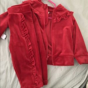 Baby ruffle sweat suit